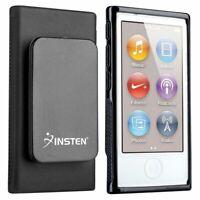 Black TPU Rubber Soft Skin Cover Case with Belt Clip For iPod Nano 7 7G 7th Gen