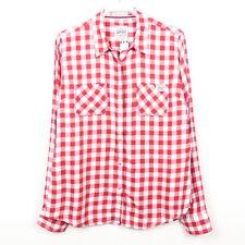 SUPERDRY Bluse Hemd Kariert Damen Rot Weiß Gr. XL 42