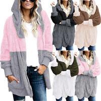 Women's Long Sleeve Oversized Loose Knitted Sweater Jumper Cardigan Outwear Coat