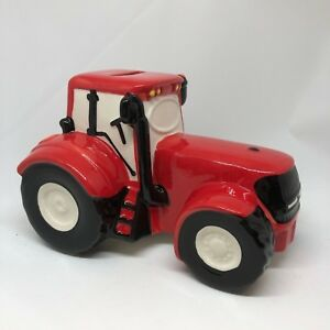 PERSONALISED Red Massey Ferguson Tractor Money Box Pre Printed Name