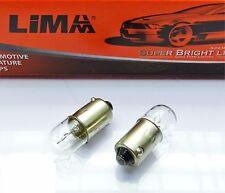 10 Stück Ba9s T4 W Glas Lampe Lima 12V 4 Watt Standlicht Glühbirne Auto Birne