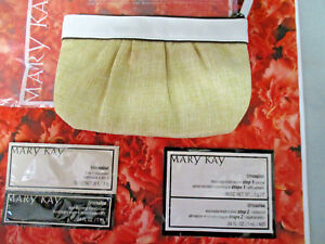 MARY KAY ~  burlap look  Makeup bag with 4  free MK cosmetic samples ~ NEW