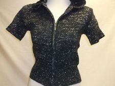 Harley-Davidson Women's S/S Black W/ Silver Hooded sweater zip 96604-07VW S