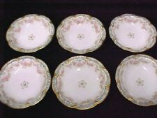 Haviland Schleiger 842 Bread Plates 6.25 Roses Bows Double Gold 8