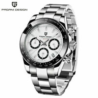 New Fashion Men Watches Stainless Steel Band Quartz Analog Wrist Watch Sport