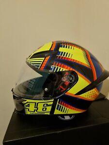 Full Face Helmet AGV K1 Top Soleluna 2015 Rossi Replica Closing Double D
