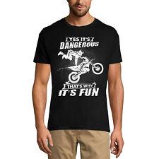 ULTRABASIC Homme T-shirt Oui, c'est dangereux, c'est pourquoi c'est amusant