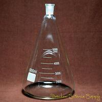 5000ml,24/40,Glass Erlenmeyer Flask,5L,Conical Bottle,Lab Chemistry Glassware