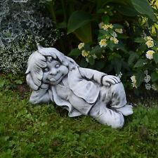 """Massive Steinfigur Gnom """"Ich liege hier und schlafe"""" Troll Wichtel aus Steinguss"""