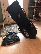 New listing Ping Hoofer Karsten Black Golf Bag Gray Stand