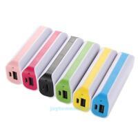 2600mAh Portable External 2 x 18650 Battery USB Charger Power Bank Case Travel