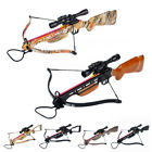 150 lb Black / Wood / Camo Hunting Crossbow Bow +4x20 Scope +7 Arrows 180 80 50