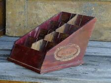 "Antique Advertising ""BOYE"" Brand Fasteners Store Counter Display Wooden Cabinet"