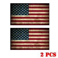 2Pcs American Flag Sticker Decal Car Truck Laptop Motorcycle Bumper Sticker