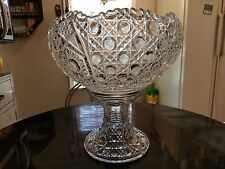 Gorgeous Huge Antique  Punch Bowl on Matching High Rise Base