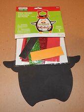 Christmas Craft Foam Activity Kit Creatology30pc Door Hanger Penguin Glitter 93H