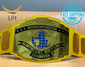 Intercontinental Heavy Weight Championship Replica Tittle Belt Yellow Strap 2MM