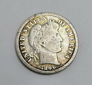 1896-S Barber Dime Key Date Only 575,000 minted Silver Coin NO RESERVE