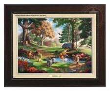 Thomas Kinkade Winnie The Pooh I Canvas Classic (Espresso Frame)