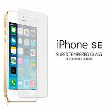 100% x2 Genuine Tempered Glass Screen Protector  Film For Apple iphone SE & 5s