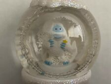 Vintage Abominable Snowman Snow Globe Ornament, Rudolph the Red Nosed Reindeer