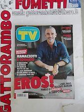 Tv Sorrisi e Canzoni N. 47 Eros Ramazzotti anno 2012  - Mondadori Ottimo