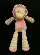 "Animal Alley Lion Pink Yellow Purple Green White Bow Multi-Colored 11"" Plush"