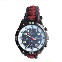 Paracord Watch with The Royal Welch Fusiliers (RWF) Colours a Great Gift
