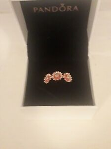 Pandora Pink Daisy Flower Trio Ring Size 58 ALE MET 188792C01 RRP £80