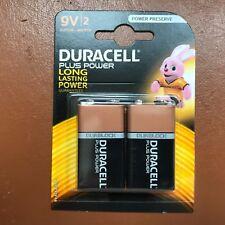 2 X Duracell 9 V PP3 Plus Power Batteries Avertisseur de fumée LR22 MN1604 longue durée