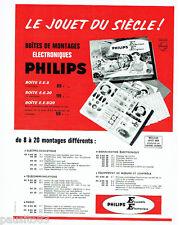 PUBLICITE ADVERTISING 036  1964  Philips boites montages éléctroniques jouets