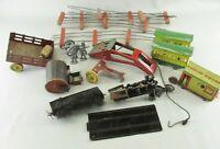 Lot of Vintage Tin Farm Toys train parts lead soldiers