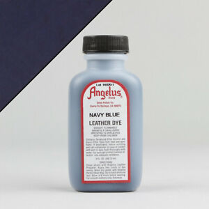 Angelus NAVY BLUE LEATHER DYE 3oz Bottle Industry Strength Dye Vibrant Colors