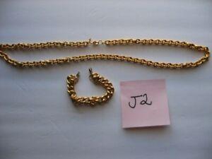Napier Gold tone Bracelet and Necklace
