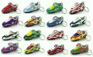 High Quality Soccer Team Mini Shoe Cleats Boots Keychain Key chains - New