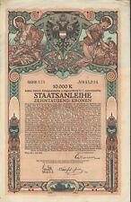8. Österreichische Kriegsanleihe zu 10.000 Kronen aus 1918