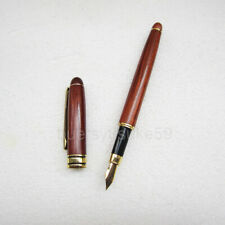 97pcs Red Wooden Fountain Pen Wooden Business Gift Writing Pens