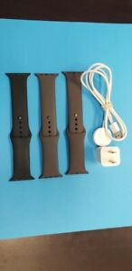 Apple Watch 42/44 M/L Silicone Band & charger cord/ power adpt set