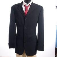 HUGO BOSS Sakko Jacket Sokrates Gr.102 schwarz uni Einreiher 4-Knopf -S940