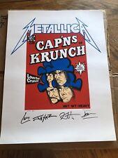 Rare 1994 CAP'NS OF KRUNCH Metallica Poster - Authentic Heavy Metal - Free Shipn