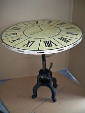 """Beistelltisch Tisch  """"Alte Uhr"""" Gußeisen+Metall Urig Antik Finish  Gutmann"""