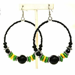 Jamaica Cool Runings Jah Rasta Irie Earrings Marley Reggae Jamaica Irie Lion NEW