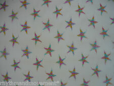 White Nett with Multi Colour Metallic Thread Stars 1m X 145cm