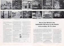 1964 British Travel 12 Theatres in London PRINT AD