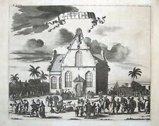 JAKARTA, CHURCH OF THE CROSS, JAVA, INDONESIA, CHURCHILL antique print 1744.