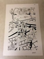 DOCTOR WHO ANNUAL original  art GREAT PAGE TARDIS BRITISH TIME LORD, SIGNED