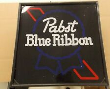 """Rare Vintage Pabst Blue Ribbon Beer Lighted Sign 17"""" with Neon Display Sc30"""