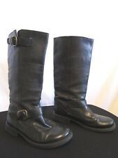 STEVE MADDEN Black Leather FRENCCHH ENGINEER Motorcycle Tall Boots Women Sz 7.5