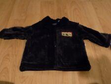 Size 12 Months Cradle Togs Navy Blue Velveteen Winter Coat Jacket Green Forest