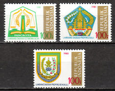 Indonesia - 1981 Coats of Arms (I) - Mi. 1027-29 MNH